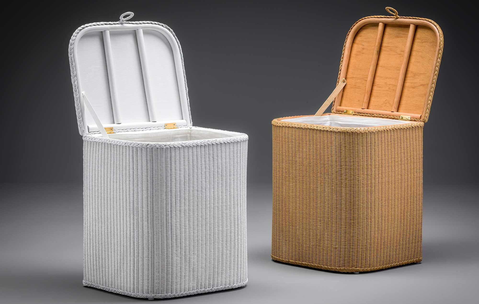 Lloyd Loom 'D' Shaped Linen Baskets