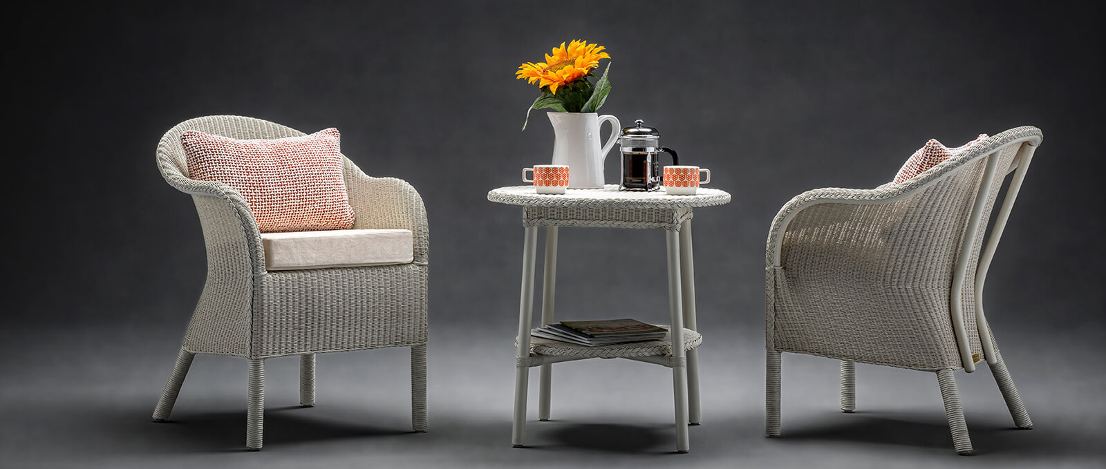 Lloyd Loom Chair and Table Set