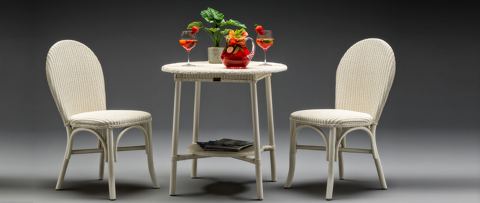 Lloyd Loom Chair and Table Set